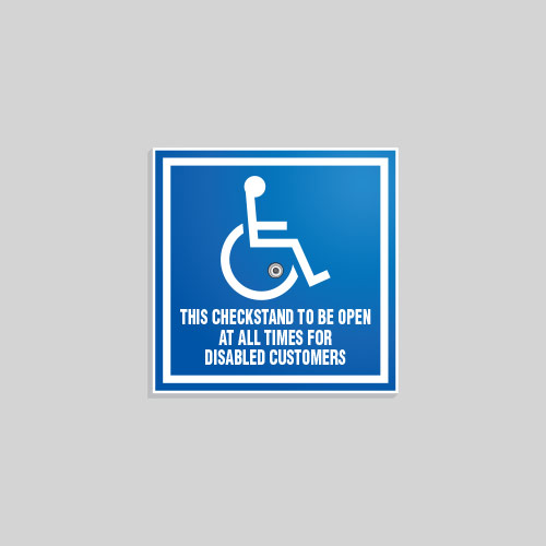 Removable ADA Sign CSA017