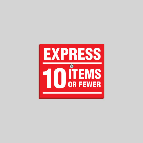 Removable Express Sign EXS009