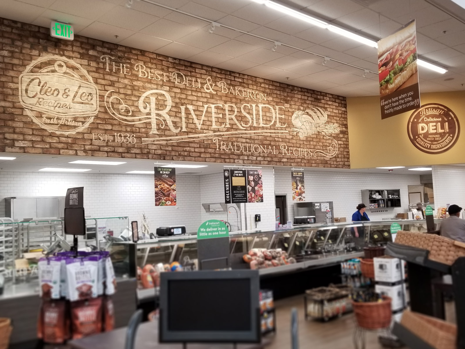 Stater Bros. Markets Photo - Hand Painted Brick Artwork