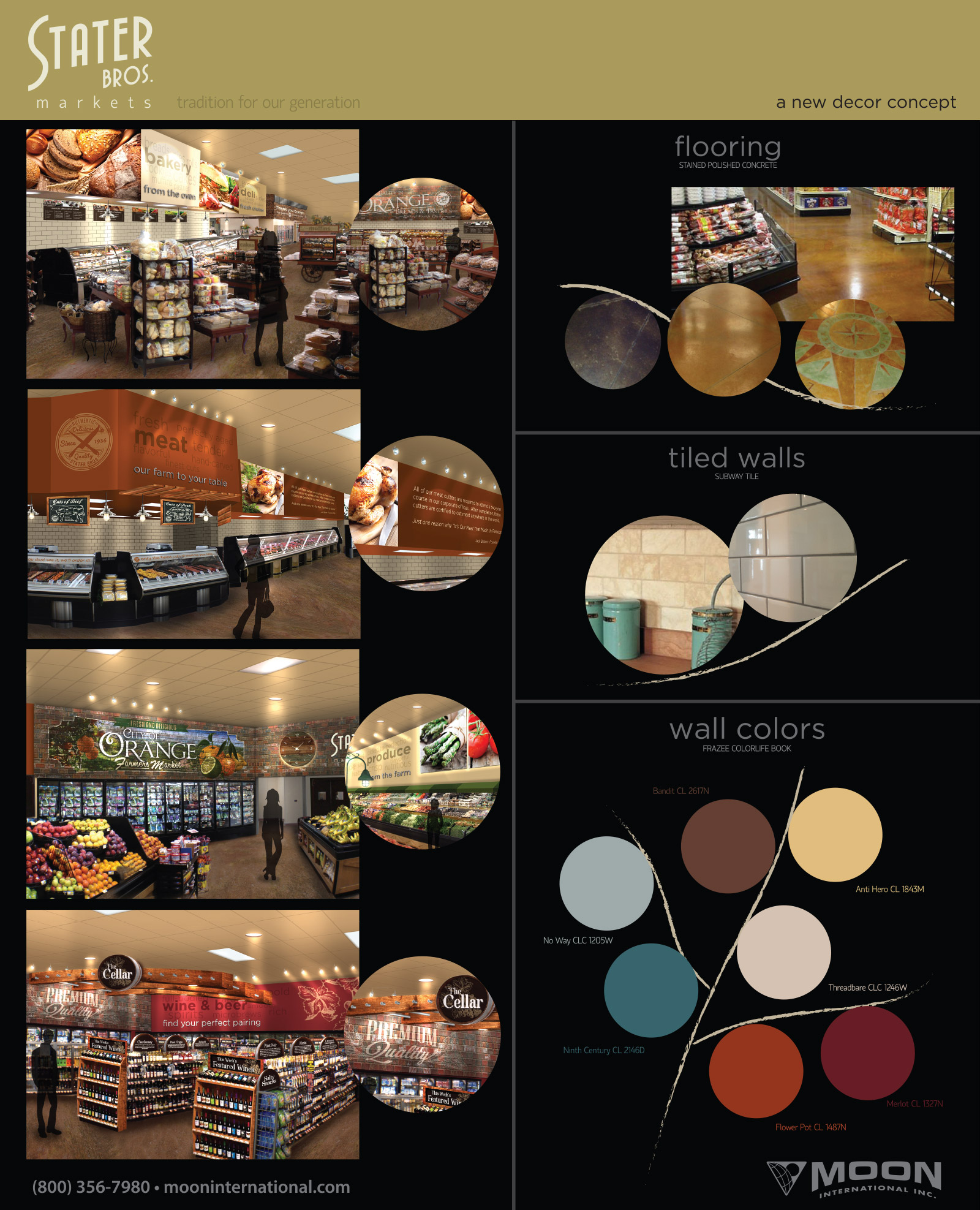 Stater Bros. Markets - Color and Texture Mood Board